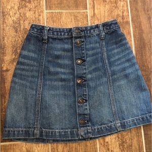 ABERCROMBIE & FITCH Women's MINI JEAN  SKIRT 00